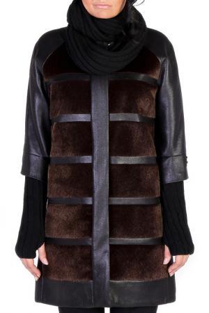 Пальто JUNONA. Цвет: brown and black