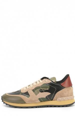 Комбинированные кроссовки Camouflage с принтом Valentino. Цвет: разноцветный