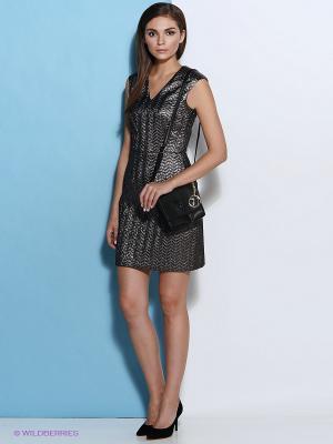 Платье Trussardi. Цвет: серебристый