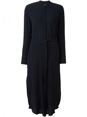 Платье с воротником-стойкой A.L.C.. Цвет: синий
