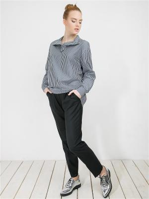 Рубашка MAYAMODA. Цвет: серо-голубой, серый, серебристый