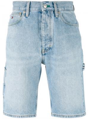Выбеленные джинсовые шорты Tommy Jeans. Цвет: синий
