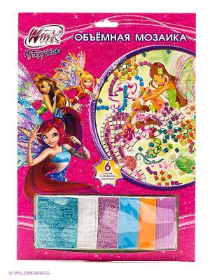 Набор для творчества  объемная мозаика Winx Multiart. Цвет: розовый