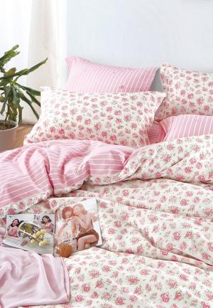 Постельное белье Bellehome. Цвет: розовый