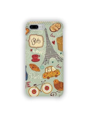 Чехол для iPhone 7 Plus Сладкий Париж IP7PLUS.MITYA-016 Mitya Veselkov. Цвет: оранжевый, красный