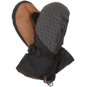 Варежки сноубордические женские  Leather Sequoia Mitt Pixie Dakine. Цвет: коричневый,черный,серый