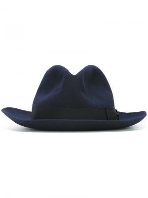 Классическая шляпа Borsalino. Цвет: синий