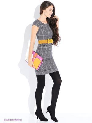 Платье Oodji. Цвет: темно-серый