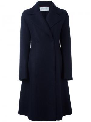 Двубортное пальто Harris Wharf London. Цвет: синий