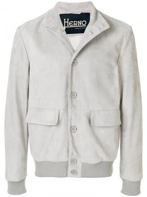 Patch pocket jacket Herno. Цвет: серый