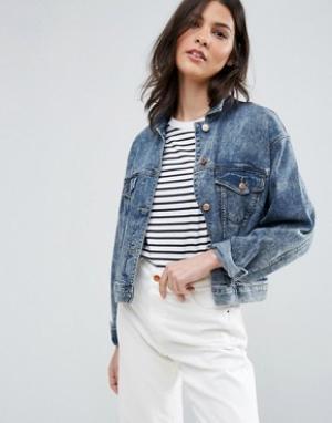 Ditto's Укороченная джинсовая куртка Dittos Tiffany. Цвет: синий