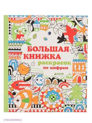 Большая книжка раскрасок по цифрам Издательство CLEVER. Цвет: белый