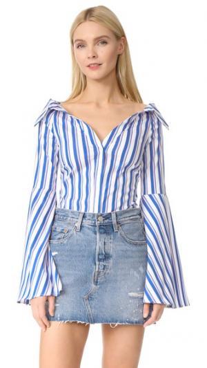 Блуза Persephone Caroline Constas. Цвет: синяя полоска мульти