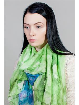 Палантин Sophie Ramage. Цвет: зеленый, салатовый