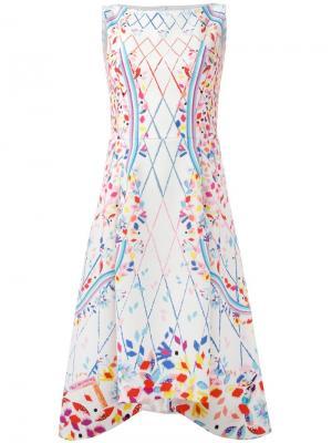 Платье без рукавов с растительным принтом Peter Pilotto. Цвет: белый