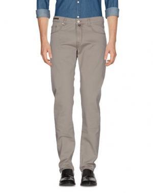 Повседневные брюки PT05. Цвет: голубиный серый