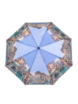 Зонт NUAGES. Цвет: голубой, бежевый