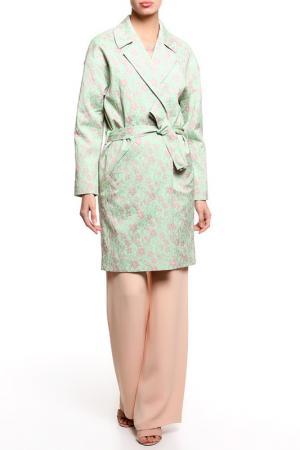 Пальто PRIVATE SUN. Цвет: зеленый