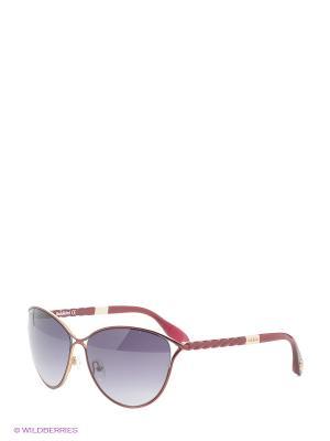 Очки солнцезащитные BLD 1507 201 Baldinini. Цвет: бордовый, золотистый