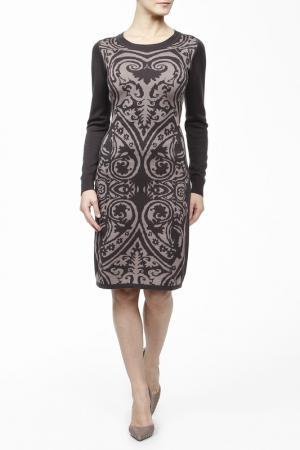 Платье трикотажное вязаное M.Reason. Цвет: серый