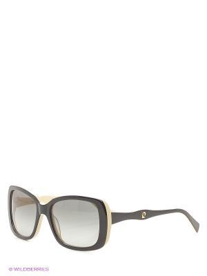 Солнцезащитные очки Pierre Cardin. Цвет: черный, светло-бежевый