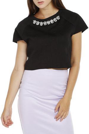 Блузка Dilvin. Цвет: черный