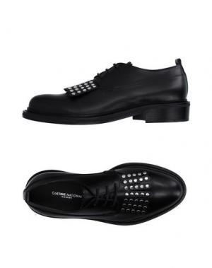 Обувь на шнурках COSTUME NATIONAL HOMME. Цвет: черный