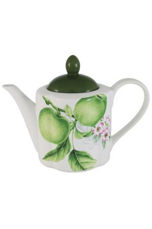 Чайник, 1,0 л IMARI. Цвет: бело-зеленый