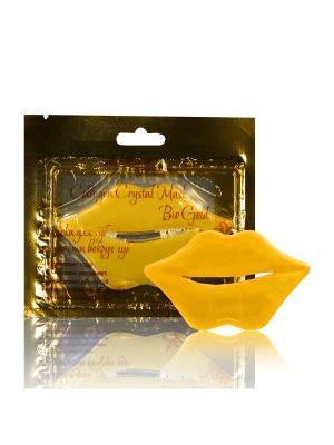 Комплект масок для губ и области вокруг Collagen Crystal Mask Bio Gold 5шт FABRIK Cosmetology. Цвет: горчичный, золотистый