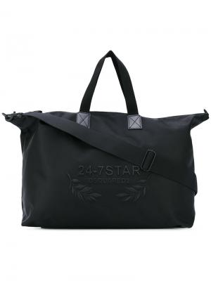 Дорожная сумка с тиснением логотипа Dsquared2. Цвет: чёрный