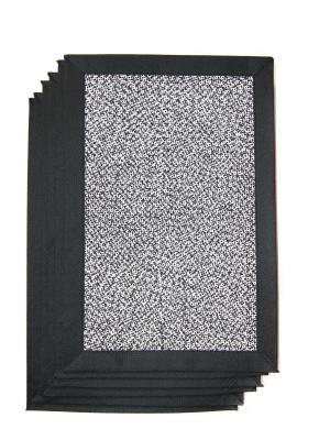 Плейсматы, 6 шт DiMi. Цвет: черный, белый