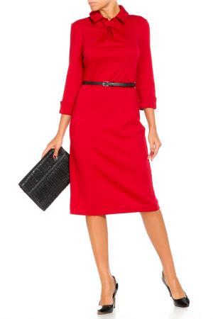 Платье с ремнем Argent. Цвет: малиновый