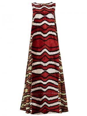 Платье без рукавов с орнаментом Afroditi Hera. Цвет: многоцветный