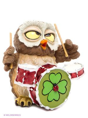 Фигурка-сова Музыкант Осборн The Comical World of Stratford. Цвет: светло-коричневый, белый, зеленый, красный