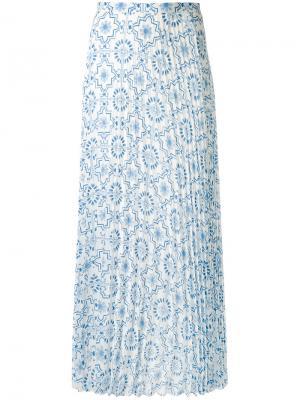 Длинная плиссированная юбка Dondup. Цвет: синий