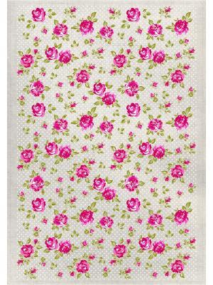 Полотенца Розочки, 2 шт., с петелькой GrandStyle. Цвет: зеленый, красный
