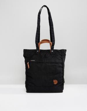 Fjallraven Черная сумка‑тоут No.1. Цвет: черный