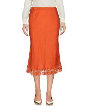 Юбка длиной 3/4 MIGUELINA. Цвет: оранжевый