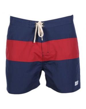 Пляжные брюки и шорты SATURDAYS SURF NYC. Цвет: темно-синий