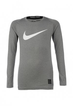 Лонгслив спортивный Nike. Цвет: серый