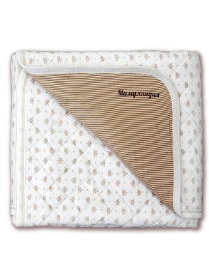 Одеяло Мамуляндия. Цвет: бежевый