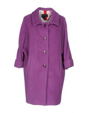 Пальто FEMME by MICHELE ROSSI. Цвет: розовато-лиловый