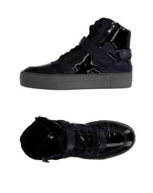 Высокие кеды и кроссовки LEA FOSCATI. Цвет: темно-синий