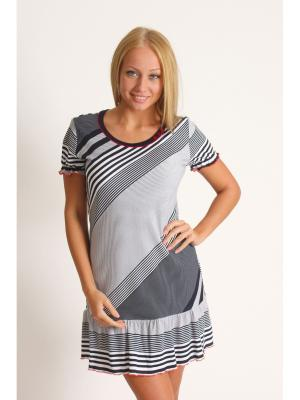 Сорочка Vilana. Цвет: серый