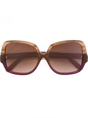 Солнцезащитные очки с массивной оправой MCM. Цвет: красный