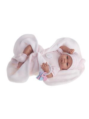 Кукла Фернанда в розовом, 40см Antonio Juan. Цвет: бледно-розовый