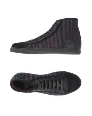 Высокие кеды и кроссовки MARC JACOBS. Цвет: темно-синий