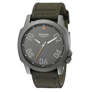 Часы  Ranger 45 Nylon Gunmetal/Surplus Nixon. Цвет: зеленый,серый