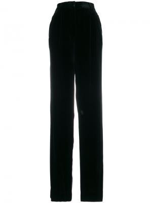 Расклешенные брюки с высокой талией Theory. Цвет: чёрный