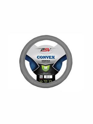 Оплётка на руль PSV CONVEX. Цвет: серый